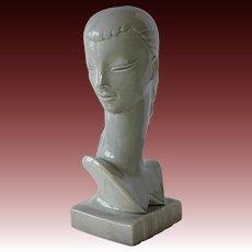 Rare Redwing Pottery Woman's Head Lamp Base c1940s
