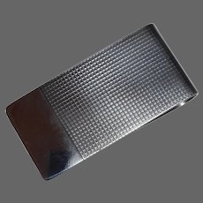 Sterling Silver Money Clip signed Daskow