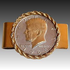 1964 Kennedy Half Dollar Money Clip