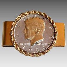 1964 Kennedy Half Dollar Money Clip
