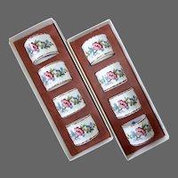 Coalport China Ming Rose Pattern Napkin Rings