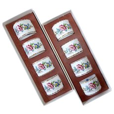 Coalport China Ming Rose Pattern Napkin Rings