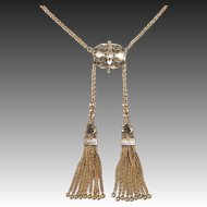 14k Victorian Tassels Necklace c1880s