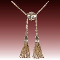 14k Victorian Tassels Necklace c1880s