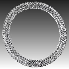 Mexican Sterling 'Woven' Wire Collar Necklace