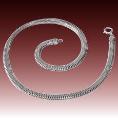 Forstner Sterling Snake Chain Choker Necklace c1940s