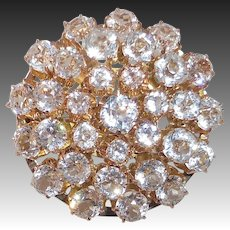 10k Victorian Large Sparkling Paste Layered Dome Pin