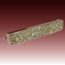 Victorian 10k Rose Gold Iron Pyrite Pin