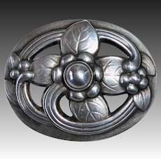 Georg Jensen Denmark Sterling Flower Pin 138