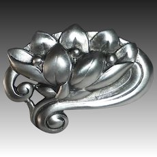 Viking Craft Sterling Water Lily Pin
