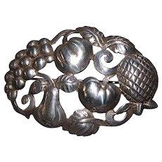 Sterling Silver Fruit Harvest Pin