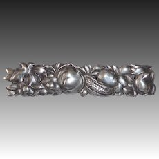 Sterling Harvest Vegetables & Flowers Bar Pin