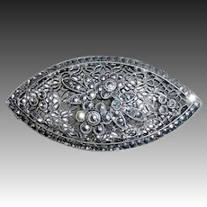 Art Deco Filigree Sterling Pin
