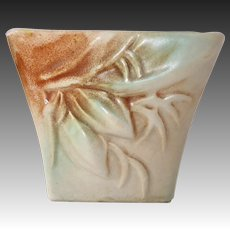 McCoy Rustique Blended Glaze Buds & Leaves Pattern Planter