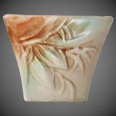 McCoy Rustique Blended Glaze Buds & Leaves Pattern Planter