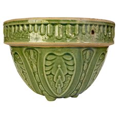 Green Stoneware Arts & Crafts Hanging or Table Top Planter