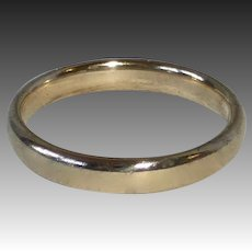 14k Classic Plain Domed Band Ring