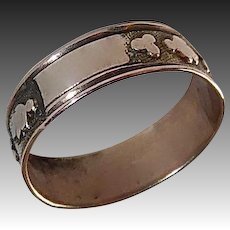 Victorian 10k Patterned Rose Gold Baby Ring