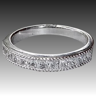 Silver Alloy Salesman's Sample Cubic Zirconia Band Ring
