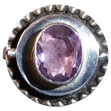 Sterling & Amethyst Poison Ring