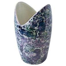 McCoy Mid Century Modern Cascade Marble Splatter Vase