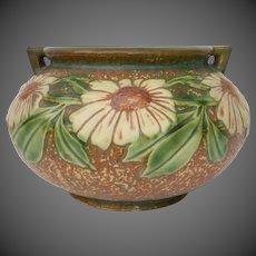 Roseville Art Pottery Dahlrose Jardiniere Planter Vase c1928