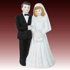 White Bisque Wedding Topper c1990