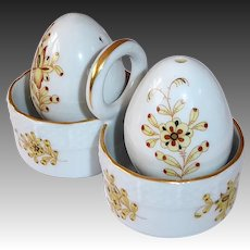 Herend Chinese Bouquet Sat * Pepper Shakers w Stand