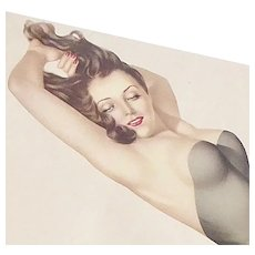Vargas Pin Up Girl Original Calendar Page c1940s