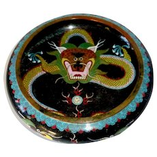 Chinese Cloisonne Enamel Dragon Bowl
