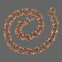 14k Double Link Starter Charm Bracelet