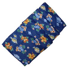 Vintage Hawaiian Themed Festive Cotton Fabric