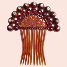 Vintage Decorative Hair Comb Accessory w Rhinestones