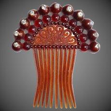 Vintage Decorative Hair Comb Accessory w Rhinestones
