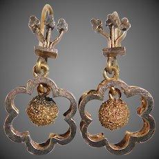 Victorian Gold Filled Petite Drop Pierced Earrings
