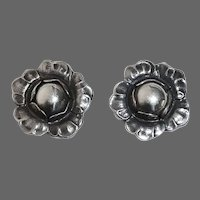 Georg Jensen Sterling Clip Earrings 2002
