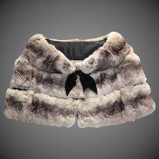 Fabulous Vintage Chinchilla Fur Stole c1930s