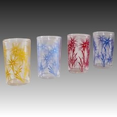 Set of 4 Cornflower Swanky Swigs Juice Glasses