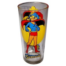 Supergirl 1976 Pepsi Tall Drinking Glass