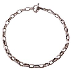 Mexican Sterling Heavy Chain Necklace