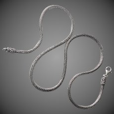 Heavy Woven Handcrafted Sterling Chain Necklace