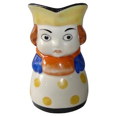 German Ceramic Girl Small Pitcher