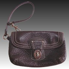Coach Small Brown Leather Adjustable Handle Purse