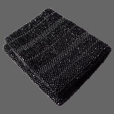 Black Beaded Silk Lined Miniature Purse
