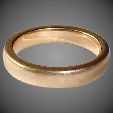 Classic Heavy 14k Yellow Gold Band Ring