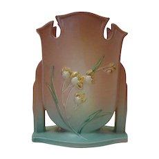 Gorgeous Roseville Pottery Ixia Pattern Vase c1930s