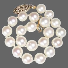 Single Strand Luminous Cultured Pearl Bracelet