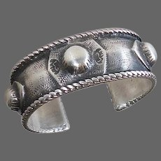 Heavy Fine Silver North African Trial Bracelet