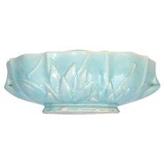 Nelson McCoy Aqua Blue Lotus Console Bowl