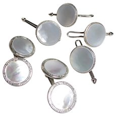 Mother of Pearl Cufflinks & Studs / Vest Buttons